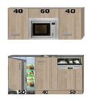 Kitchenette Neapel 140cm incl magnetroon, koelkast, vaatwasser en boiler RAI-2121