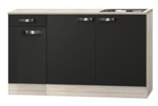 keukenblok Antraciet 130 cm incl spoelbak RAI-04837