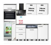 Rechte keuken wit mat 220cm incl inbouw apparatuur RAI-9900