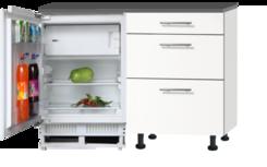 Keukenblok 120cm met inbouw koelkast zonder spoelbal RAI-9922