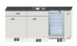 Keukenblok 180cm met inbouw vriezer RAI-4491