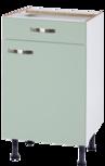 Onderkast greta groen 60cm breed RAI-5540