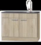 keukenblok 120 cm houtnerf incl de kraan RAI-9922