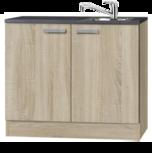 keukenblok 100 cm houtnerf incl de kraan RAI-9923