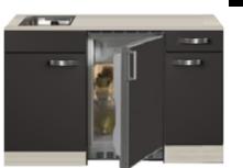 Kitchenette Faro Antraciet 130cm incl rvs spoelbak HRG-5264