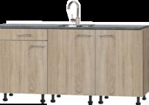 keukenblok 180cm houtnerf met plinten RA-3331