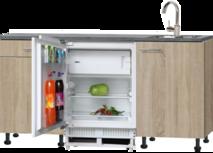 kitchenette 180cm met koelkast en stelpoten RAI-8181