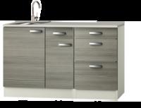 Keukenblok 120cm vigo grijs-rood RAI-4392