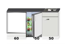 Kitchenette 160cm met oven kast en koelkast RAI-1440
