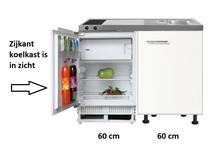 kitchenette 120 met domino keramische kookplaat en inbouw koelkast RAI-8888
