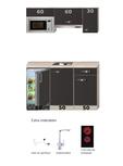 Keukenblok Faro 150cm met koelkast en kookplaat RAI-8888