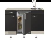 Kitchenette Faro Antraciet 120cm HRG-5395