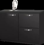 keukenblok zwart 120cm RAI-450