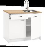 keukenblok 120cm gemonteerd met spoelbak NEY-120