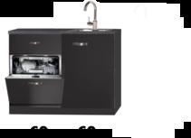 kitchenette 120cm zwart met mini vaatwasser NEY-8588