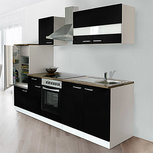 Keuken Zwart 270cm HUS-0998