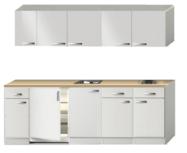 Keukenblok 240cm wit hoogglans incl inbouw apparatuur RAI-0132