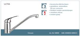 Lage druk keukenkraan chroom Bornholm HRG-31