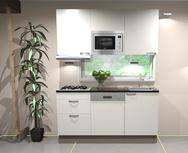 Keukenblok wit hoogglans 180 cm incl inbouw aparatuur RAI-5420