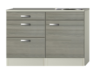 Keukenblok Grijs-bruin Vigo 120cm met 3 laden  RAI-5151