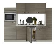 Keuken 240cm vigo grijs-bruin incl koelkast, kookplaat en apothekerskast RAI-371