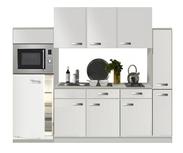 Keuken 240cm wit hoogglans incl koelkast, kookplaat en apothekerskast RAI-372