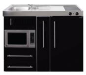 MPM 120 A Zwart metalic met koelkast, apothekerskast en magnetron RAI-9547