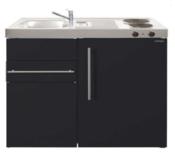 MK 90 Zwart mat met koelkast en een la RAI-9516