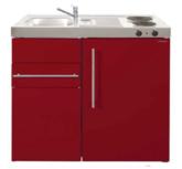 MK 90 Bordeauxrood met koelkast en een la RAI-9513
