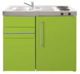 MK 90 Groen met koelkast en een la RAI-9512