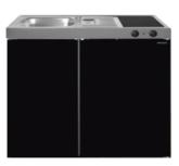 MK 90 Zwart Metalic mat met koelkast  RAI-9516