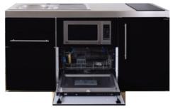 MPGSM 160 Zwart metallic met koelkast, vaatwasser en magnetron  RAI-983