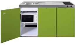 MKM 150 Groen met  losse magnetron en koelkast RAI-335