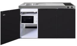 MKM 150 Zwart mat met  losse magnetron en koelkast RAI-330