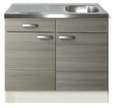 Keukenblok Vigo grjs-bruin met een la 100 x 60 cm HRG-2020