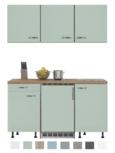 Keukenblok 150 Karat incl koelkast en kookplaat en wandkasten RAI-914