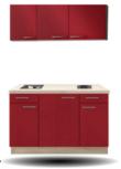 keukenblok Rood hoogglans130CM RAI-5219