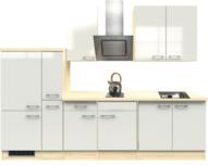 Keuken Abaco 300cm parel Shiny incl afzuigkap, koosplaat en spoelbak HRG-5590