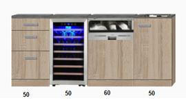Kitchenette met wijnkoelkast en vaatwasser RAI-4001