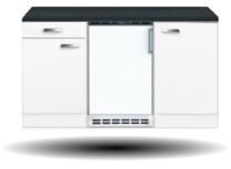 Kitchenette Wit 150cm met koelkast HRG-73101