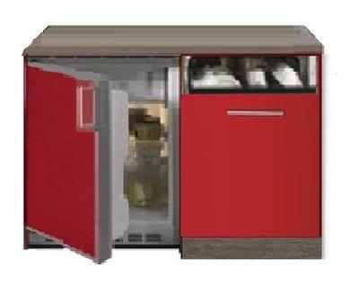 Kitchenette 120 cm met koelkast en vaatwasser OPTI-053