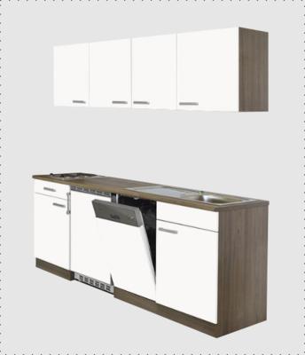 Kitchenette 180cm met vaatwasser en koelkast 50cm RAI-0005
