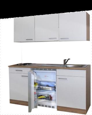 keukenblok 150 met koelkast en 2-pit kookplaat RAI-8484