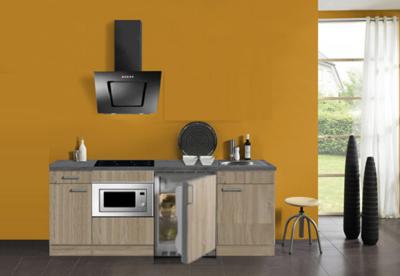 keukenblok 180 met inbouw koelkast,, magnetron en 4-pit inductie kookplaat RAI-302