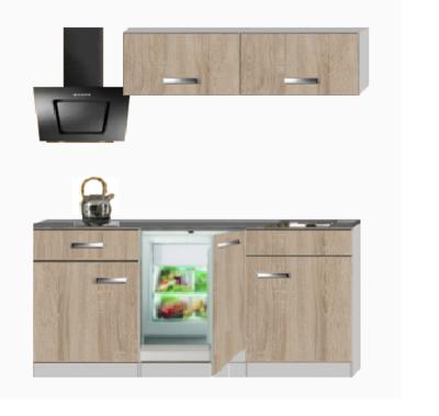 kitchenette 180cm incl koelkast en kookplaat RAI-876