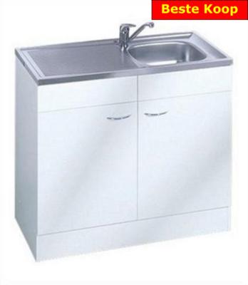 Keukenblok Klassiek 50 + RVS aanrecht 100cm x 50cm RAI-005