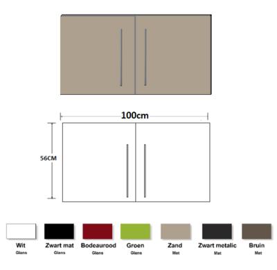 Metalen wandkast zand 100cm RAI-837