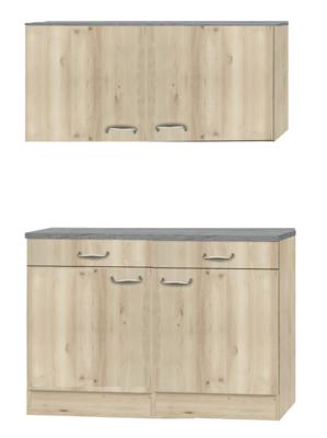 Keukenblok 100cm met rvs spoelbak RAI-222