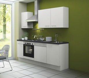 Kitchenette CONCEPT Bengt 210 cm wit incl. Ingebouwde apparaten RAI-949