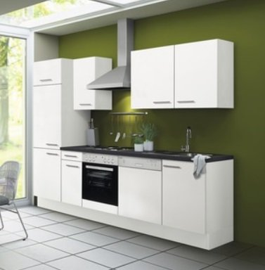 Kitchenette CONCEPT Bengt 270 cm wit incl. Ingebouwde apparaten RAI-0003